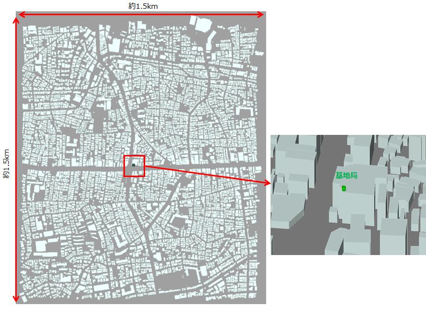 BWA_Local5G_解析モデルと基地局位置